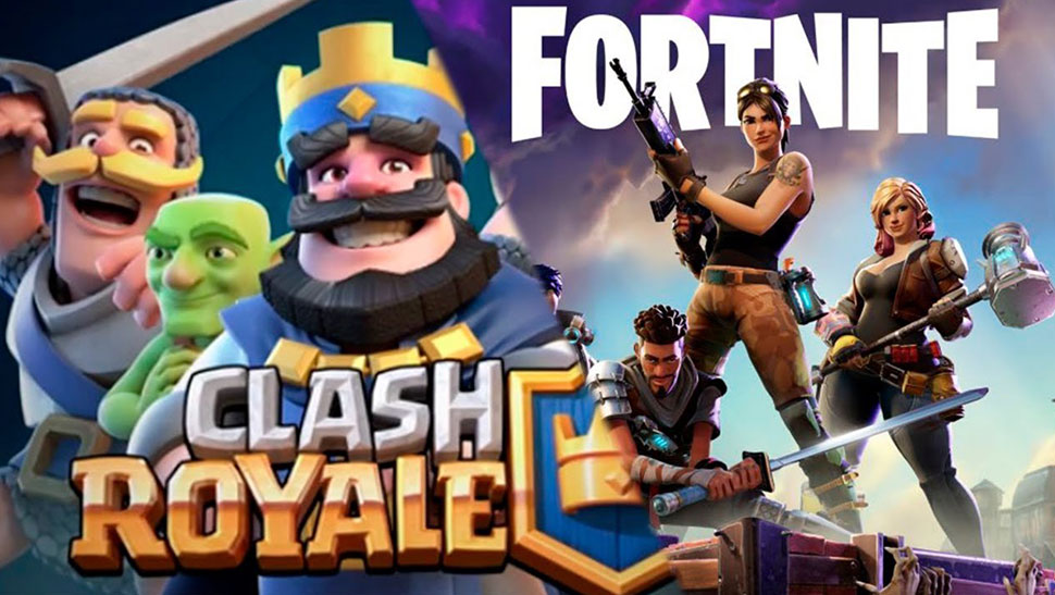 Fortnite vs Clash royale Game
